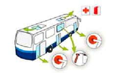 Empresa Gilsanz - Servicio regular de autobuses - Puertas y accesos